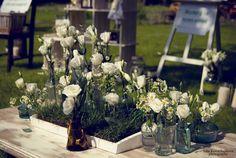 Вазы свадебного стола
