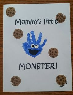 Cookie monster handprint