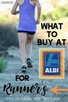 What to Buy at Aldi for Runners. Running a Marathon or Half? Check out how to save money buying all the foods that will help you perform your best. Clean Eating Whole Foods Training Runners Diet Plan, Runner Diet, Runners Food, Best Food For Runners, Nutrition For Runners, Marathon Training Diet, Race Training, Marathon Running, Training Schedule