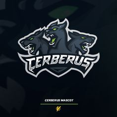 Cerberus Mascot designed by Mike. the global community for designers and creative professionals. Logo Esport, Bold Logo, Logo Branding, Esports Logo, Sports Team Logos, Mascot Design, Cerberus, Game Logo, Logo Concept