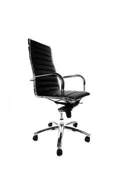 Fauteuil bureau design TURIN Noir 65x70x106 - Pierimport