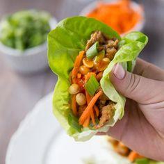 Healthy Asian Turkey Lettuce Wraps #turkeywraps #healthywraps