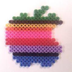 Apple logo hama perler beads