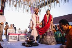 Rituals - The Wedding Ceremony! Photos, Punjabi Culture, Beige Color, Destination Wedding, Bridal Makeup, Groom Sherwani pictures, images, vendor credits - Into Candid Photography, WeddingPlz