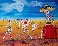 "Day Of The Dead ""The Bullfighter"" 8x10"" Art Print Poster Mexican Bull Matador Multiple Sizes Available Folk Artist J Ellison by JEllisonArt on Etsy https://www.etsy.com/listing/115180675/day-of-the-dead-the-bullfighter-8x10-art"