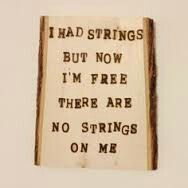 Quote with marionette strings
