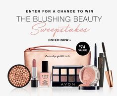 Enter for your chance to win The Blushing Beauty Avon Sweepstakes, No Purchase Necessary