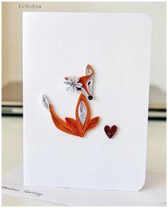 Fuchs Grußkarte für Hochzeit Proposal Geburtstag von Liebeabies auf DaWanda.com