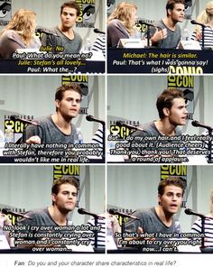 tvd - paul wesley at comic con 2015