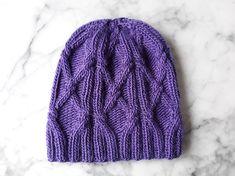 3eeb333957e Cable knit beanie  Aran knit hat. Purple handknit hat. Original design.  Made in Ireland. Beanie for her. Sublime Aran cap. Wool knit beanie.