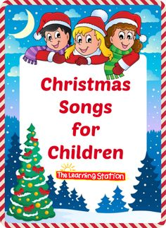 FREE Videos! Christmas Songs for Children with Lyrics: These songs can be shared at your morning meeting to enhance your Christmas theme. They are also great for circle time, brain breaks and indoor recess. And they make great songs for children to perform during your holiday family night. #Christmas