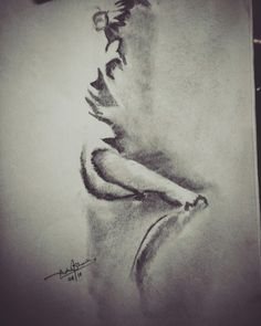 Lady sketch, artwork, highlights sketch, incomplete drawing