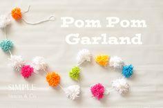 Kids' Crafting- Spring Pom Pom Garland - Simple Simon and Company