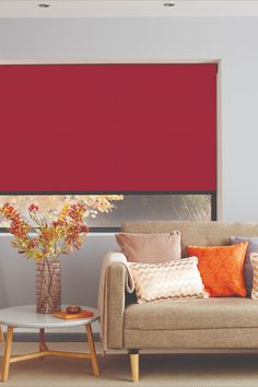 Buy Blinds Online Australia - Quality Range At The Best Price Red Blinds, Roller Blinds, Blinds For Windows, Curtains With Blinds, Living Rooms, Living Room Decor, Blinds Online, Interior Styling, Interior Design