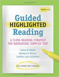 Guided Highlighted Reading Reading Notes, Reading Lessons, Reading Activities, Teaching Reading, Guided Reading, Teaching Literature, Math Lessons, Common Core Curriculum, Common Core Ela