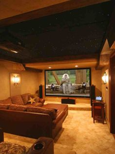 Cool basement home cinema