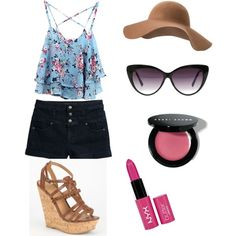 An Easy Summer Stroll by nitya-tammana on Polyvore featuring Tinsel, Delicious, MANGO, Eloquii, NYX and Bobbi Brown Cosmetics