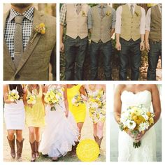 Yellow & Navy Country Wedding really cute .... But in peach :)