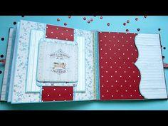 Mini Albums, Mini Album Scrap, Baby Mini Album, Mini Scrapbook Albums, Scrapbook Paper, Kirigami, Bookbinding Tutorial, How To Make Scrapbook, Altered Book Art