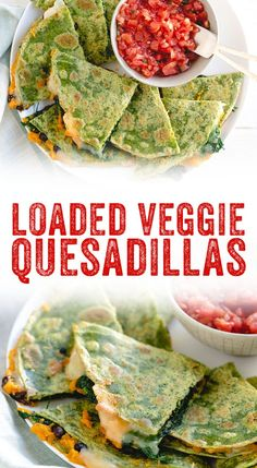 Veggie Quesadilla – A Couple Cooks- This loaded veggie quesadilla recipe is one the tastiest around—and it's packed with veggies! It's perfect for healthy dinner ideas for kids, and adults too.Superfood Veggie Quesadilla – A Couple Cooks- Healthy Dinners For Kids, Healthy Food Options, Healthy Dinner Recipes, Kids Meals, Vegetarian Recipes, Quick Recipes, Healthy Dinner For One, Cheap Recipes, Healthy Tips