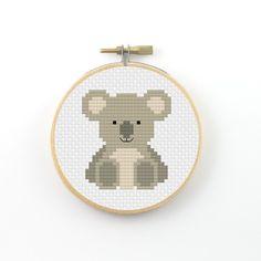 Koala Cross Stitch pattern koala pattern animal by ringcat on Etsy