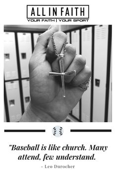"""Baseball is like church. Many attend, few understand."" Shop the 2.0 Baseball Bat Cross Pendant and other baseball jewelry at All in Faith. Find the perfect gift for the Christian player in your life."
