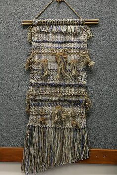 """Weaving Project from Pam Howard Diane Totten's class """"Crimp, Color, and Create"""" January Weaving Textiles, Weaving Art, Wire Weaving, Tapestry Weaving, Hand Weaving, Weaving Wall Hanging, Wall Hangings, Textile Fiber Art, Weaving Projects"""