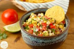Grilled Corn Salsa - A Kitchen Addiction