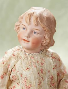 "Very RareGerman BisqueArt Character Girl,7956,by Gebruder Heubach 19"" (48 cm.)"