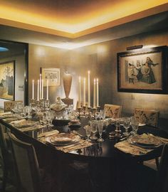 Dining Room redesign by Albert Hadley for Happy Rockefeller in her New York apartment.