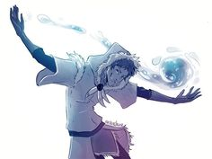 Lance as a waterbender. A perfect combination!!