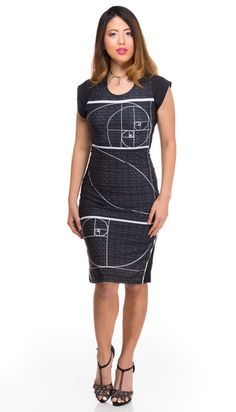 Handmade in California Math + Fashion go quite well together! This mathematically fashionable dress is calculated to be fabulously figure flattering. The next number is found by adding up the two numb