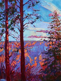 North Rim Hexaptych - Contemporary Impressionism | Landscape Oil Paintings for Sale by Erin Hanson
