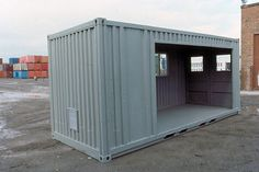 shipping container cabin and shipping container garage at Conterm