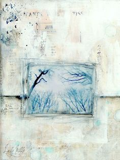Winter Song 1 : mixed media painting by Laly Mille