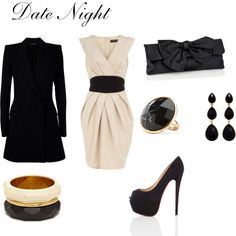 date night, created by #gigib310 on #polyvore. #fashion #style Dorothy Perkins The Row
