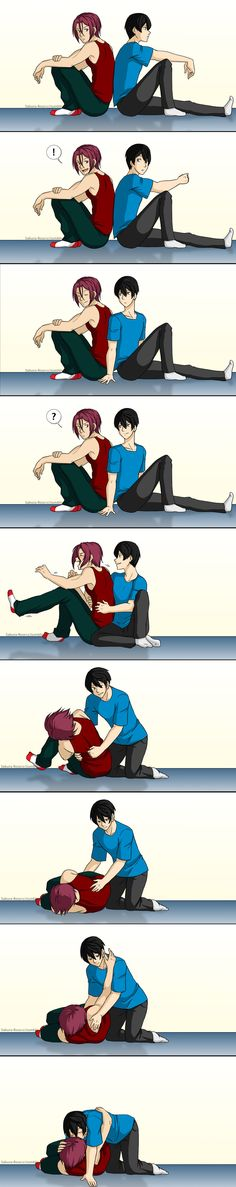 Tickle by Sakura-Rose12 | Rin x Haruka #rinharu #free #anime