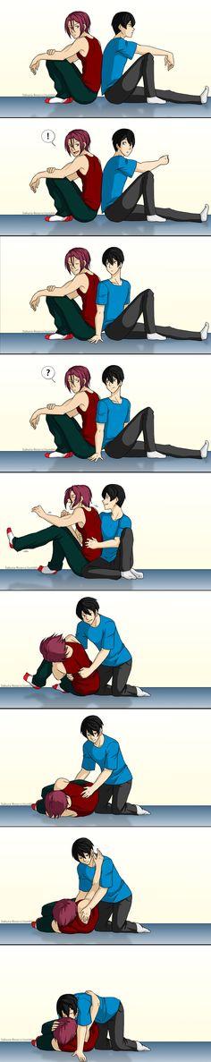 Tickle by Sakura-Rose12   Rin x Haruka #rinharu #free #anime