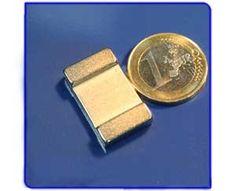 Imán de neodimio Ref. V02 Placa 25x15x5 mm Money Clip, Licence Plates, Magnets