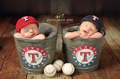 Ahh! Baseball twins! I'm in love! Hats are by Sweet Love Creates Photography Props.