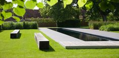 Lap pool in the English countryside designed by BHSLA Landscape Architects Green Architecture, Landscape Architecture, Landscape Design, Contemporary Garden Design, Contemporary Landscape, Outdoor Pool, Outdoor Gardens, Minimalist Garden, Modern Pools