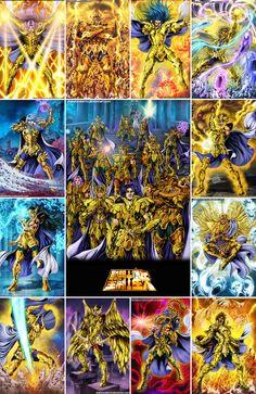 Saint Seiya - Gold Saints - by diabolumberto