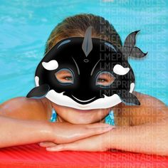 Items similar to Orca Printable Mask Cetacean Pool Party Beach Sea Animals Killer Whale Acuatic DIY Animal Masks Photo Booth Children Adult Halloween Costume on Etsy Halloween Party Costumes, Halloween Kostüm, Printable Animal Masks, Bird Costume, Whale Costume, Dog Mask, Bird Masks, Wal, Mask Party