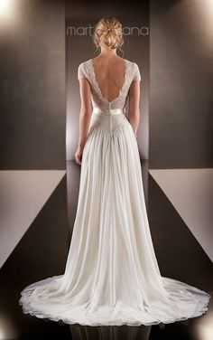Wedding Dresses | Lace Cap Sleeve Wedding Dress | Martina Liana