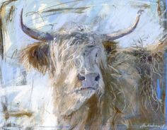 This large Highland Snow greeting card has been designed by contemporary artist, James Bartholomew. Painting Snow, Cow Painting, Painting & Drawing, Animal Painter, Animal Paintings, Highland Cow Art, Highland Cattle, Monet, Gauguin