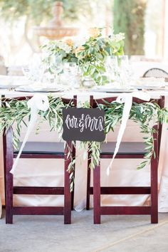 wedding chair covers tamworth dunelm tub 66 best images on pinterest chairs chalkboard decor with olive garlands bethaney photography fabyoubliss via aislesociety