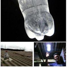 coke bottle light, bleach & water
