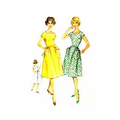 1960s Back Wrap Flared Dress McCalls 5411 Vintage Sewing Pattern
