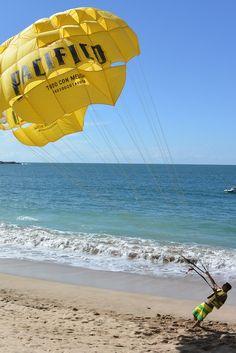 Mazatlan Mexico -- Parasailing off the Pacific Coast