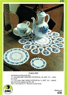 Your place to buy and sell all things handmade Crochet Motif, Knit Crochet, Crochet Patterns, Crochet Ideas, Retro Home Decor, Vintage Knitting, Doilies, Vintage Floral, 1970s